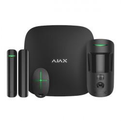 AJAX - Starter kit Cam (Hub2 + DoorProtect + MotionProtectCam + SpaceControl) noir