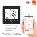 MOES - Thermostat Zigbee Noir plancher chauffant hydraulique