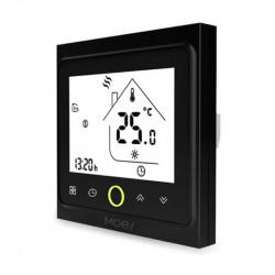 MOES - Thermostat intelligent Zigbee Noir pour chaudière EAU/GAZ 3A