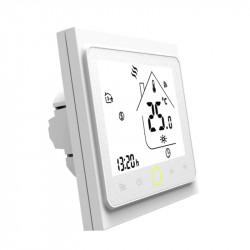 MOES - Thermostat intelligent Zigbee Blanc pour chaudière EAU/GAZ 3A