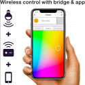 INNR - 2x Ampoule connectée type B22 ZigBee 3.0 RGBW + Blanc réglable