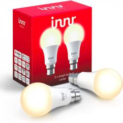 INNR - 2x Ampoule connectée type B22 - ZigBee 3.0 Blanc chaud 2700K