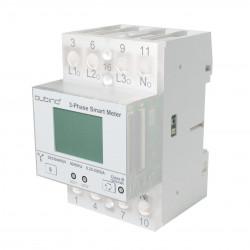 QUBINO - Module Rail DIN compteur d'énergie triphasé Z-Wave+ 3-phases Smart Meter