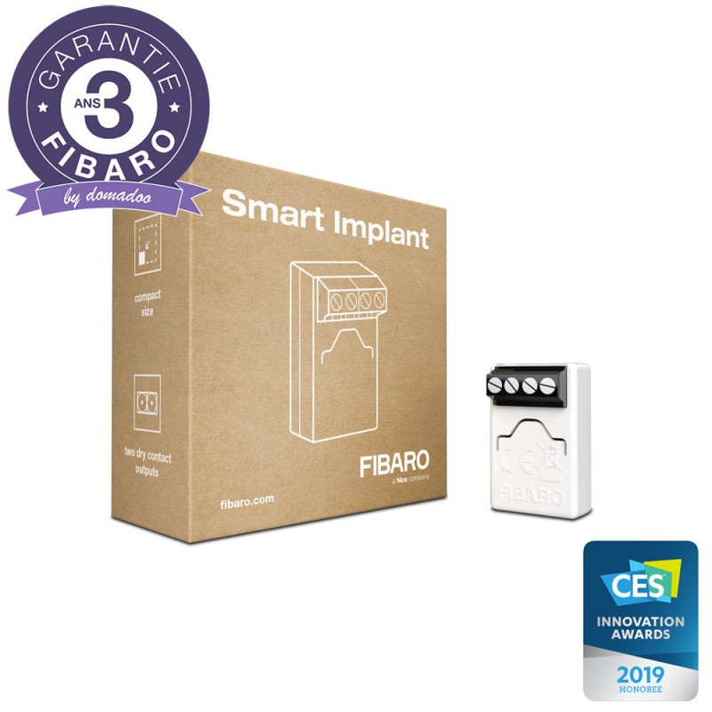 FIBARO - Détecteur Universel Z-Wave+ Fibaro Smart Implant FGBS-222