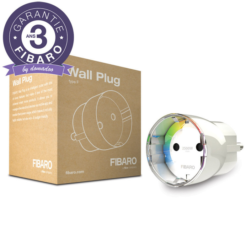 FIBARO - Module prise commutateur et consomètre Z-Wave+ Fibaro Wall Plug FGWPF-102 ZW5, Schuko