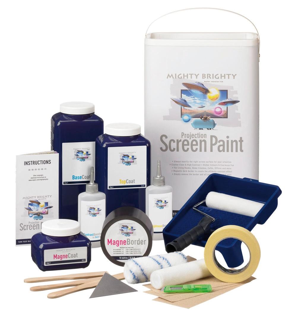 Peinture Pour Ecran Retroprojecteur mighty brighty kit peinture pour écran de projection