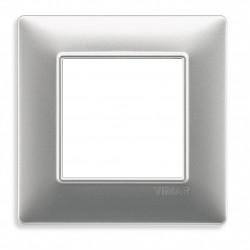 VIMAR Plaque de finition PLANA en technopolymère ARGENT MAT