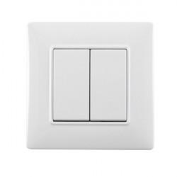 TRIO2SYS Interrupteur double sans fil EnOcean blanc