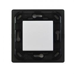 VIMAR Interrupteur sans fil EnOcean blanc 1 touche Sans Plaque - Support Noir