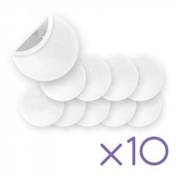 Pack de 10 Tags NFC autocollant blanc, rond 29mm (Chipset NTAG213)