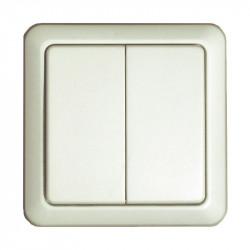 DiO - Interrupteur mural sans fil double Blanc