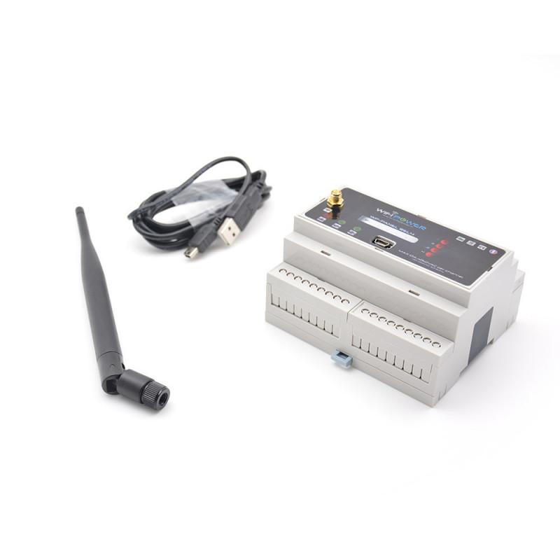 WIFIPOWER - Module rail DIN commutateur WiFi pour 4 circuits electriques