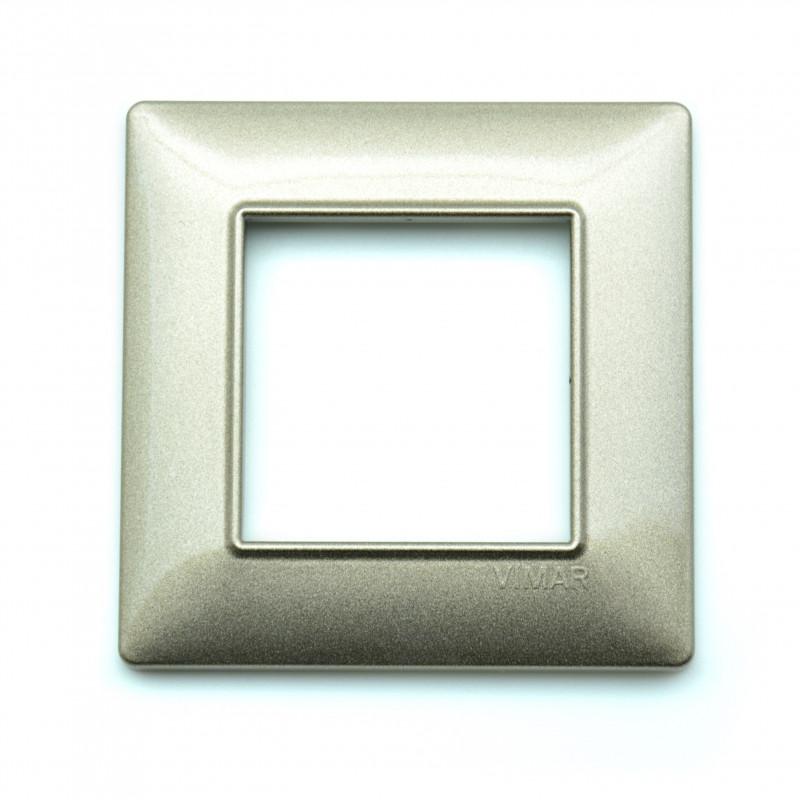 VIMAR Plaque de finition PLANA en technopolymère BRONZE