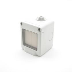 TRIO2SYS Interrupteur étanche EnOcean blanc 2 touches