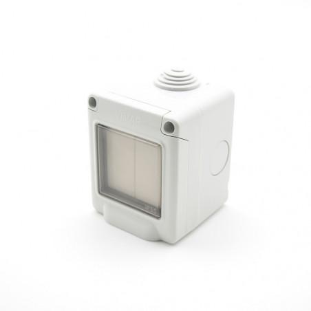VIMAR Interrupteur étanche EnOcean blanc 2 touches