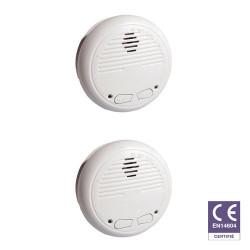 CHACON Pack de 2 détecteurs de fumée sans fil (compatible RFXCOM)