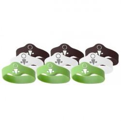 OKIDOKEYS Badges bracelets x9