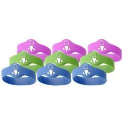 OKIDOKEYS Badges bracelets enfants x9