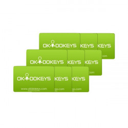 OKIDOKEYS Badges cartes x9