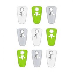 OKIDOKEYS Badges porte clés x9