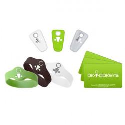 OKIDOKEYS Pack multi badges x9