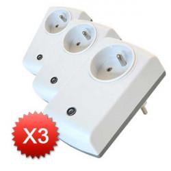 EVERSPRING PACK DE 3 Module Prise Variateur Z-Wave AD142-6, prise FR