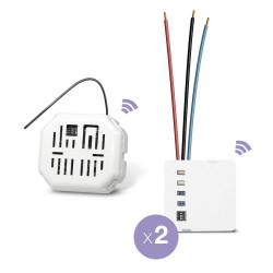EDISIO - Pack Start - Va et vient sans fil 2 Circuits lumineux