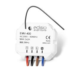 EDISIO - Récepteur 868,3 MHz 2x Marche/Arrêt ou Ouvrir/Stop/Fermer (2 x 2A)