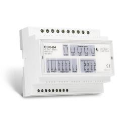 EDISIO - Récepteur DIN RAIL 868,3 MHz - Marche/Arrêt/Impulsionnel - 4 x 10A