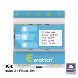 EWATTCH - Superviseur Ewattch EnOcean avec 3 pinces incluses