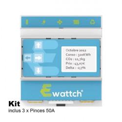 EWATTCH - Superviseur Ewattch avec 3 pinces incluses