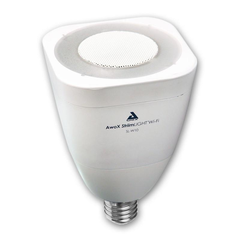 AWOX - Ampoule LED + Enceinte Wi-Fi AwoX StriimLIGHT WIFI