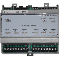 CARTELECTRONIC - Interface 8 relais 1-Wire Rail DIN