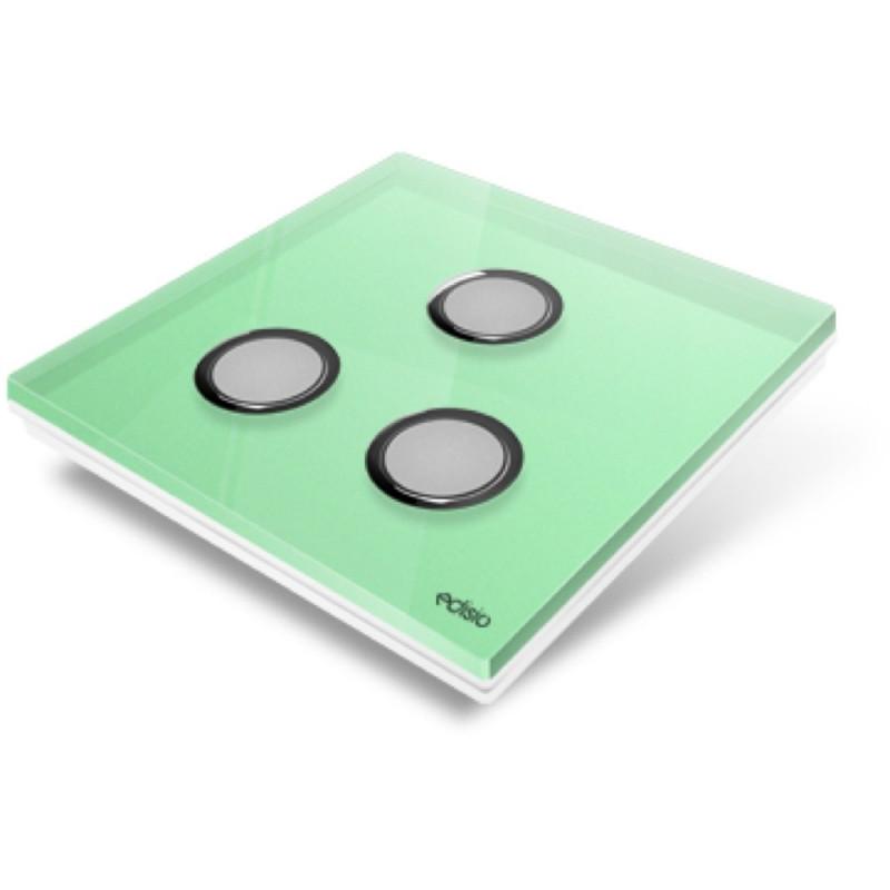 EDISIO - Plaque de recouvrement Diamond - Vert Clair 3 Touches