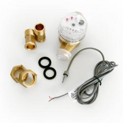 GIOANOLA Compteur d'eau chaude et froide à impulsion - 3/4p 1 imp/litre