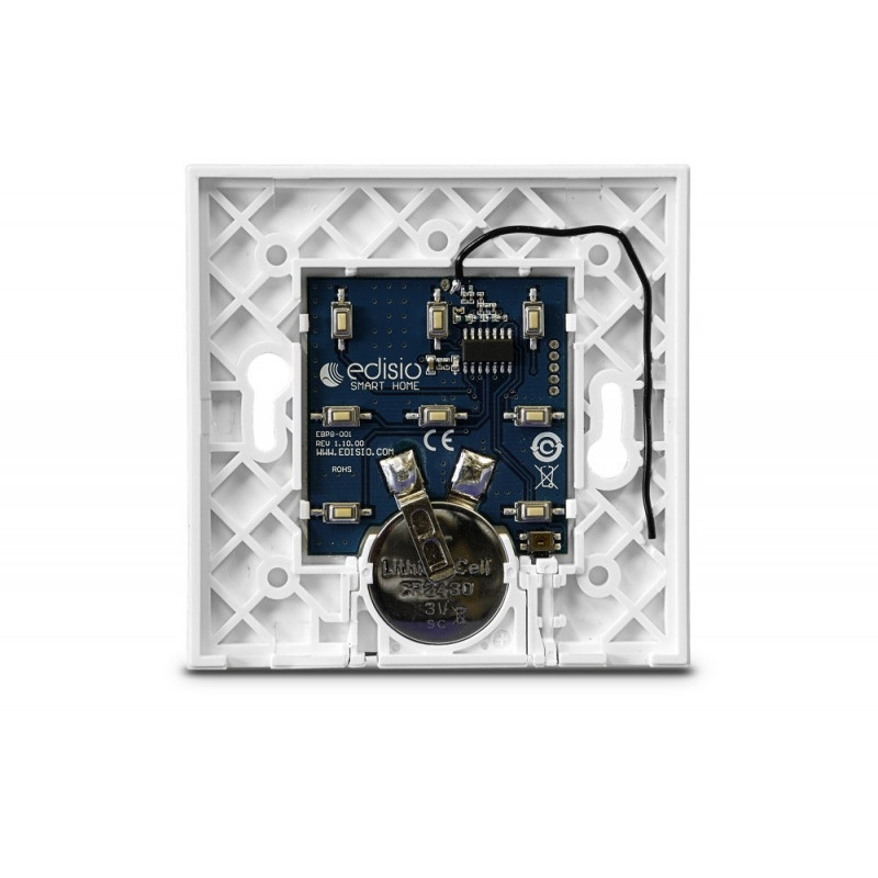 EDISIO - Base d'interrupteur Blanc 1 à 5 canaux