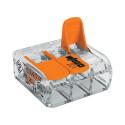 WAGO - Borne de raccordement avec levier 3x0.2 à 4mm2
