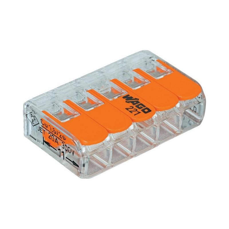 WAGO - Borne de raccordement avec levier 5x0.2 à 4mm2