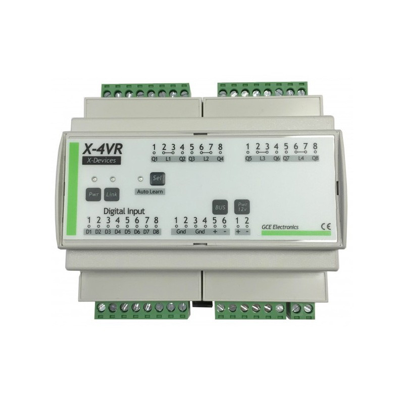 GCE ELECTRONICS - X4VR 4 Roller Shutter extension for IPX800 V4
