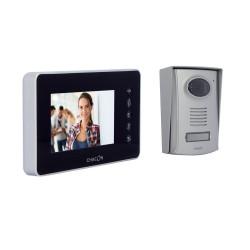 CHACON - Videophone filaire (4 fils/mains libres) avec écran noir 4.3 P
