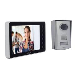 CHACON - Videophone filaire (4 fils/mains libres) avec écran noir 7 P
