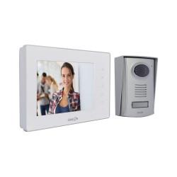 CHACON - Videophone filaire (2 fils/mains libres) avec écran blanc 7 P