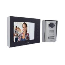 CHACON - Videophone filaire (2 fils/mains libres) avec écran noir 7 P