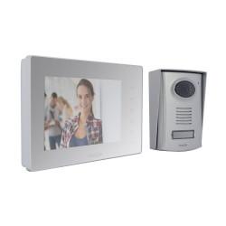 CHACON - Videophone filaire (2 fils/mains libres) avec écran miroir 7 P