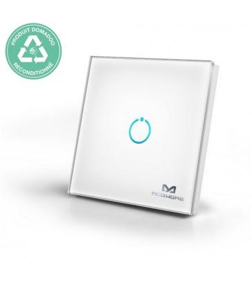 RECONDITIONNE - MCOHOME - Interrupteur tactile en verre Z-Wave 1 charge, Blanc