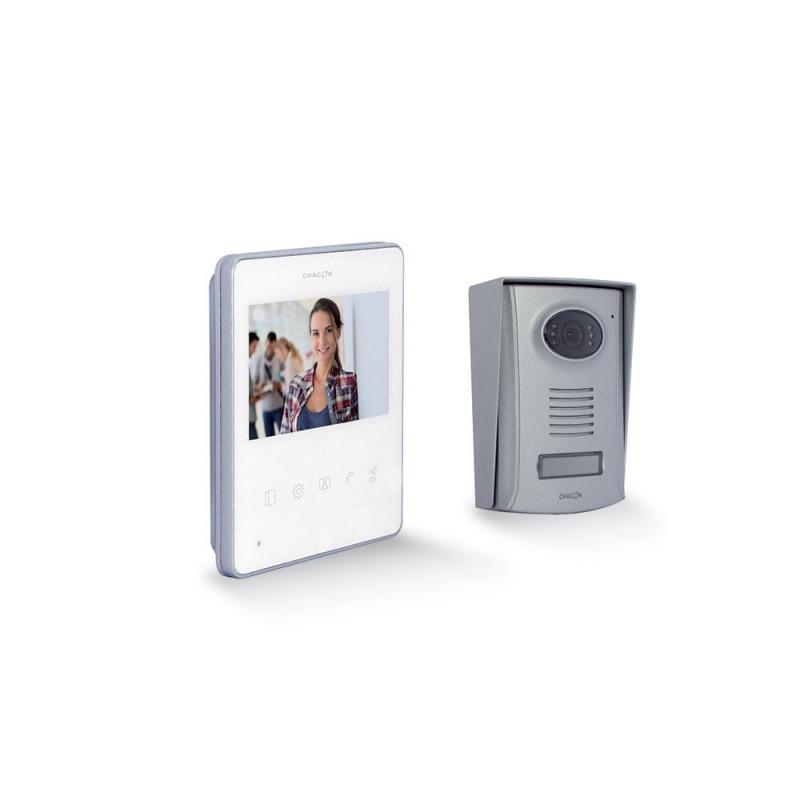 "CHACON - Videophone 2 fils 4,3"" blanc ultra slim"