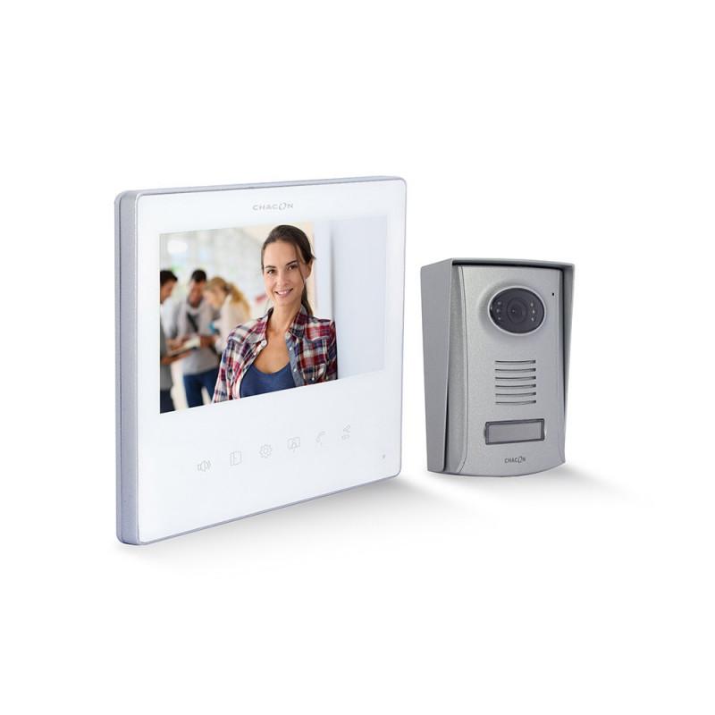 "CHACON - Videophone 2 fils 7"" blanc ultra slim"