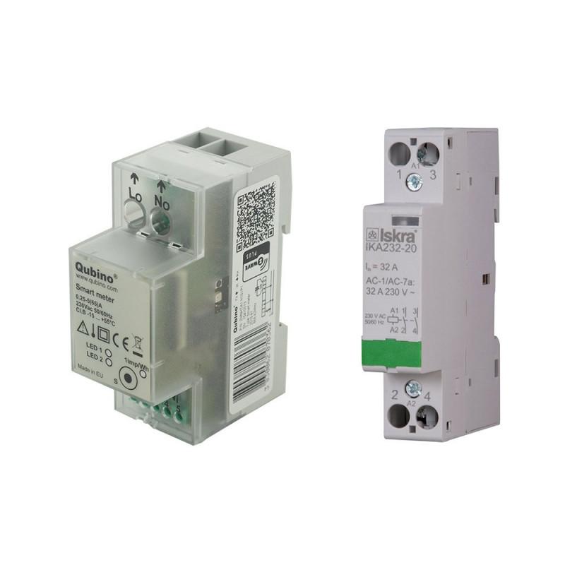 QUBINO - Pack Smart Meter Z-Wave+ et contacteur 32A