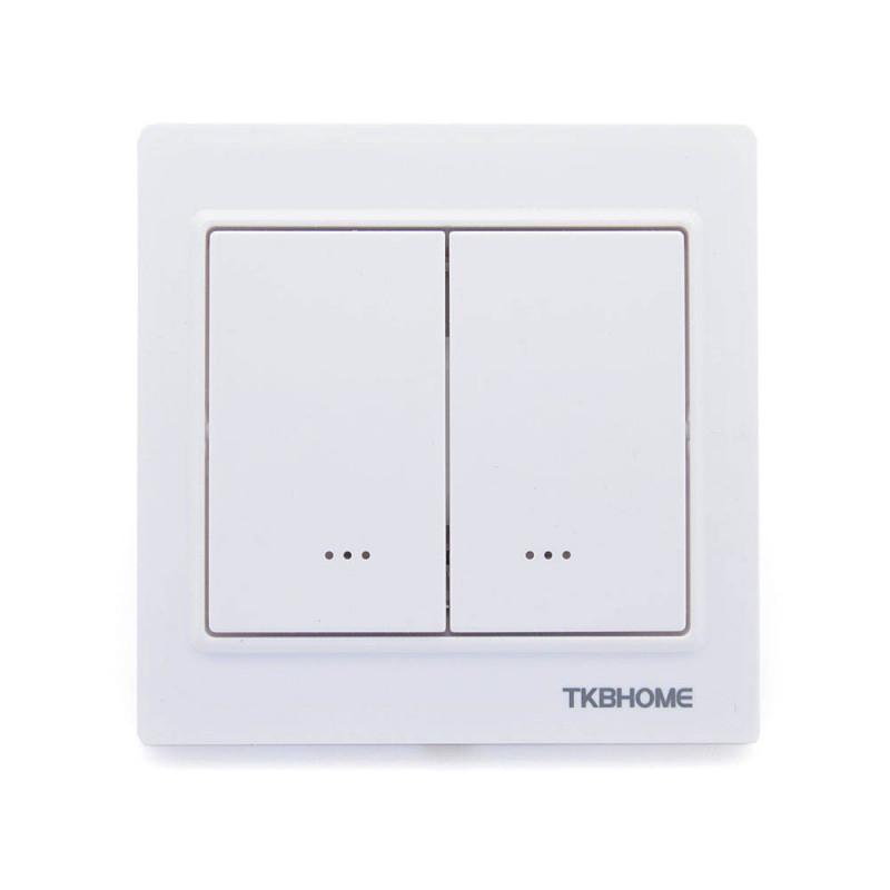 TKB HOME Interrupteur double Z-Wave+ Blanc