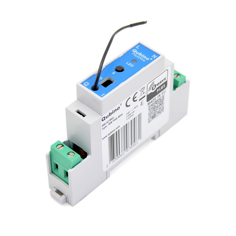 QUBINO - Module Rail DIN Fil Pilote Z-Wave+ ZMNHUD1 DIN Pilot Wire